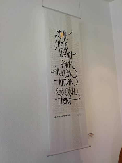 Kalligrafie von Ruth Wild im forum11
