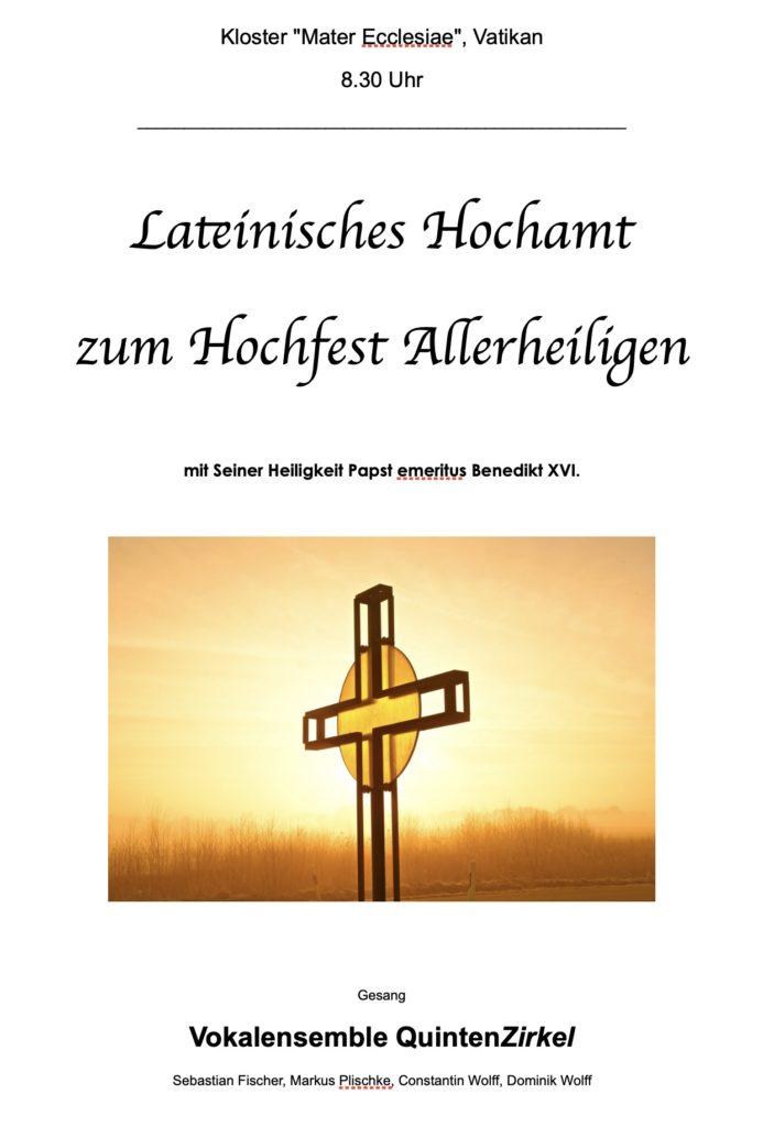 Liedblatt der Gruppe QuintenZirkel im Vatikan